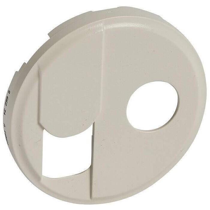 Лицевая панель Legrand Celiane розетки RJ45+TV тип F слоновая кость 066234