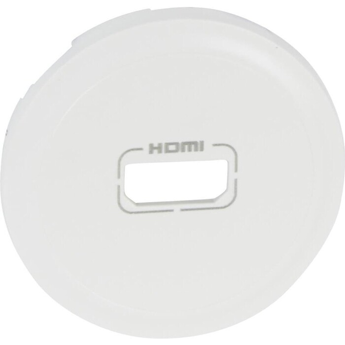 Лицевая панель Legrand Celiane розетки аудио/видео HDMI белая 068216