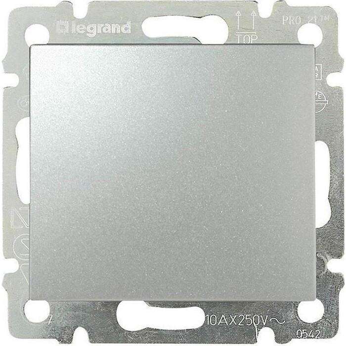 Переключатель Legrand одноклавишный промежуточный Valena 10A 250V алюминий 770107