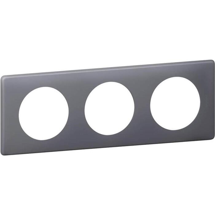 Рамка Legrand 3-постовая Celiane фиолетовая перкаль 066733