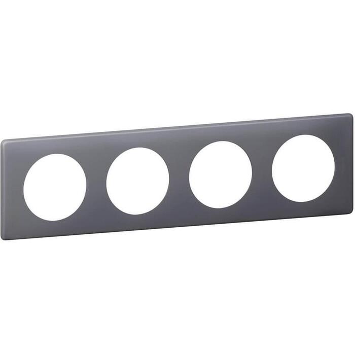 Рамка Legrand 4-постовая Celiane фиолетовая перкаль 066734