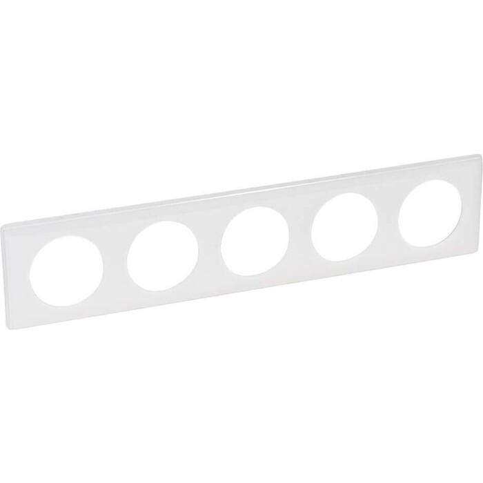 Рамка Legrand 5-постовая Celiane белый глянец 066630