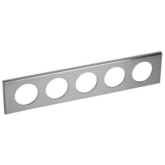 Рамка Legrand 5-постовая Celiane фактурная сталь 069110