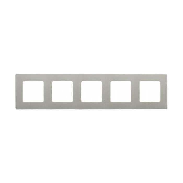 Рамка Legrand 5-постовая Etika светлая галька 672525