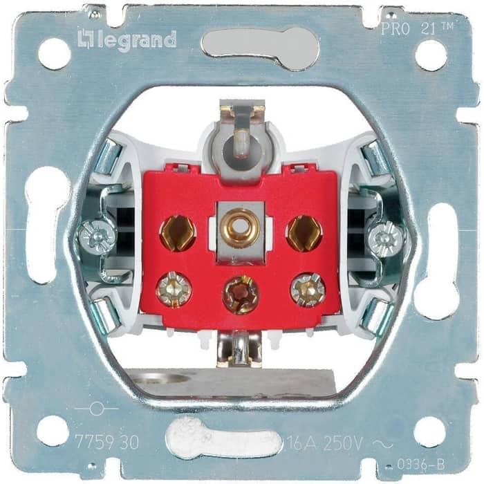 Розетка Legrand 2 K+3 Galea Life 16A 250V с/з винтовой зажим 775930