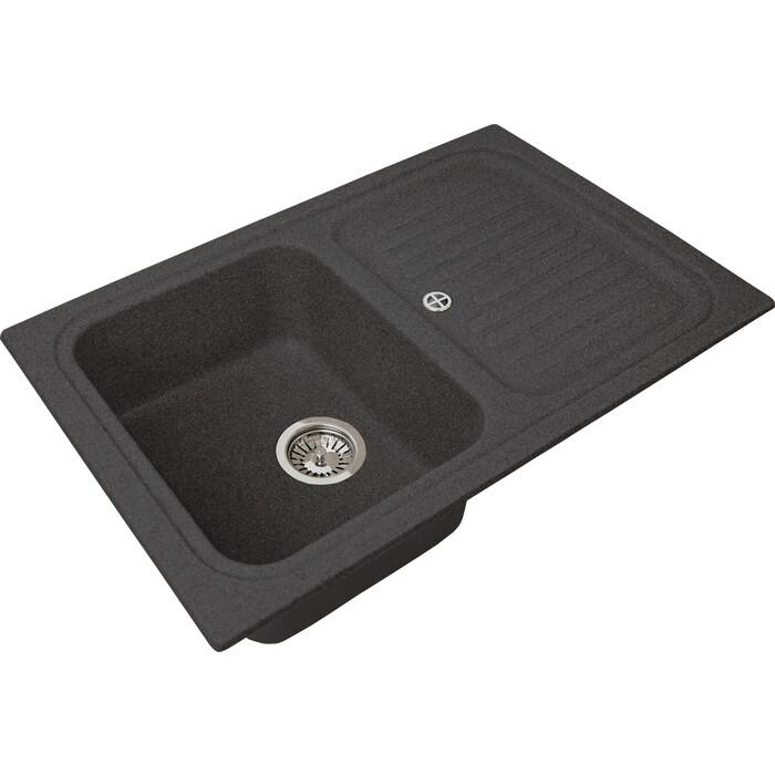Кухонная мойка Granstones GS-78 черная (GS-78-308)