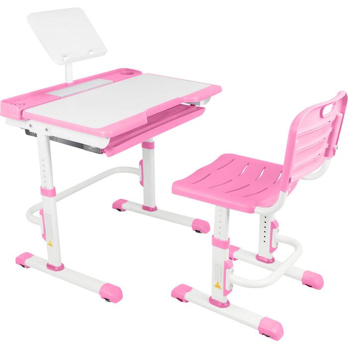 Парта-трансформер со стулом Капризун A7-pink