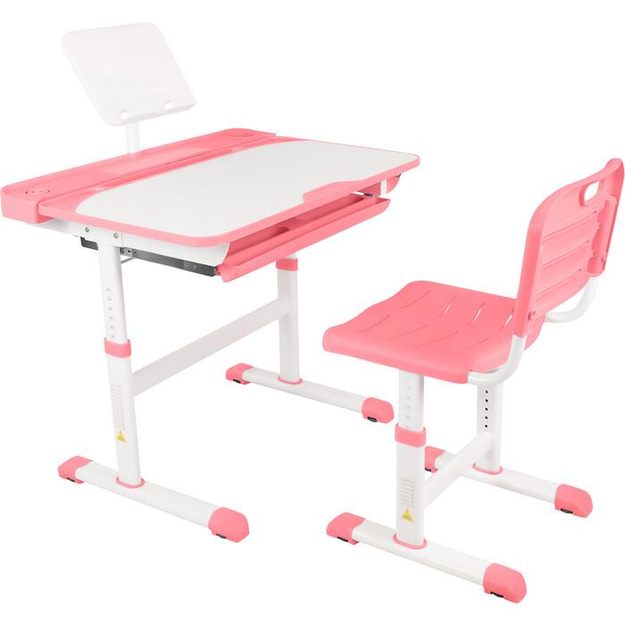 Парта-трансформер со стулом Капризун Q8-pink