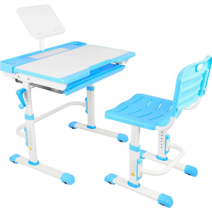 Парта-трансформер со стулом Капризун T7-blue
