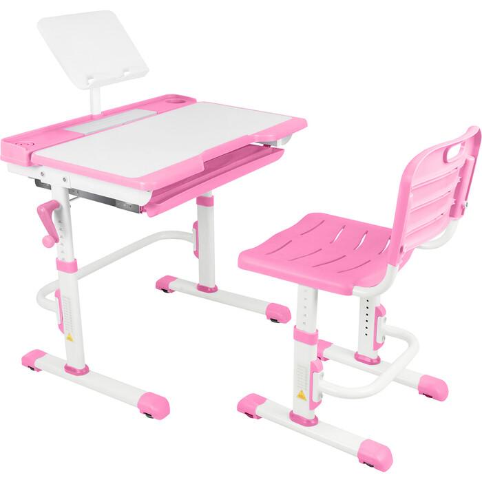 Парта-трансформер со стулом Капризун T7-pink