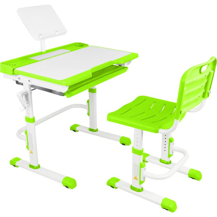 Парта-трансформер со стулом Капризун T7-green