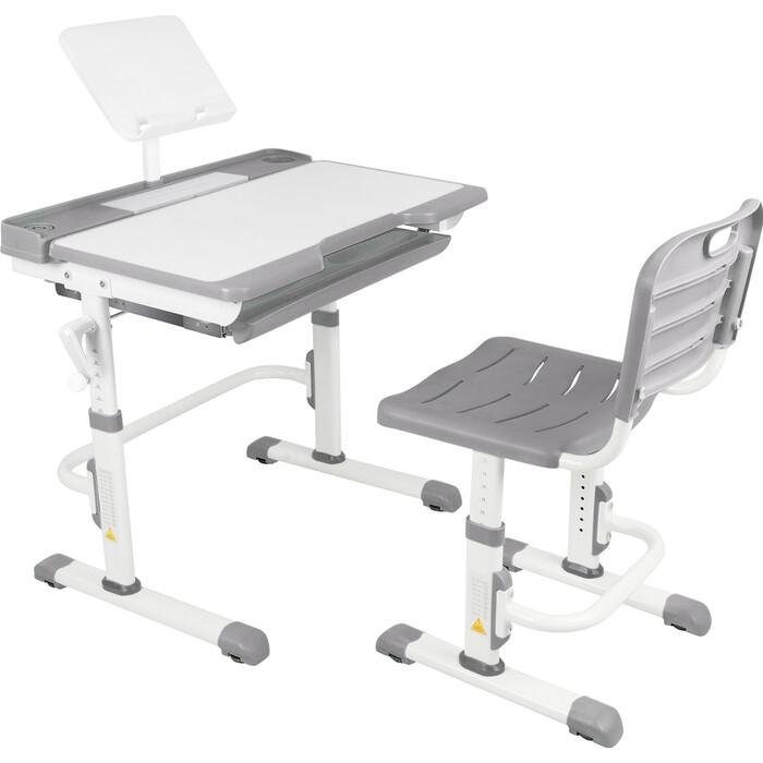 Парта-трансформер со стулом Капризун T7-gray