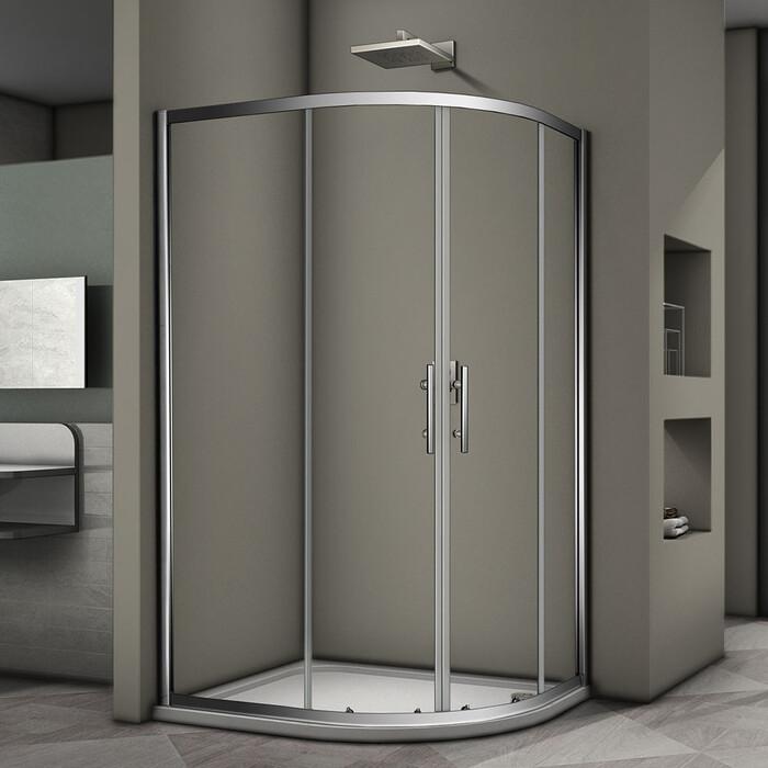 Душевой уголок Veconi Rovigo 100x80 стекло прозрачное, профиль хром (RV08-10080A-01-19C3)