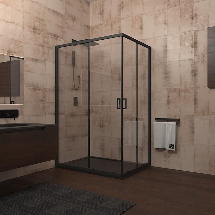 Душевой уголок Veconi Rovigo 100x80 стекло прозрачное, профильчерный (RV14-10080PR-01-19C1)