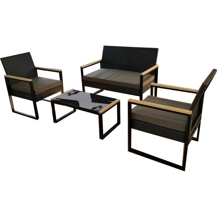 Набор мебели Мебиус Женева М3416 искуственный ротанг/стекло