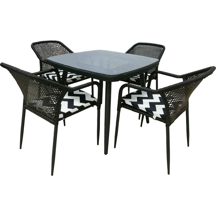 Набор мебели Garden story Ливорно с подушками 521 искусственный ротанг/стекло