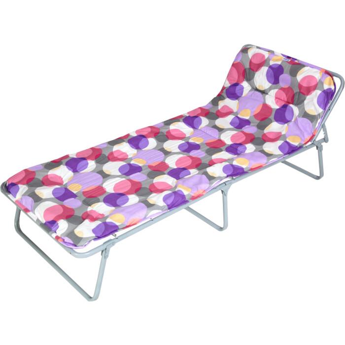 Кровать раскладная детская Ольса Юниор мягкая каркас антрацит/ткань разноцветные круги С89М