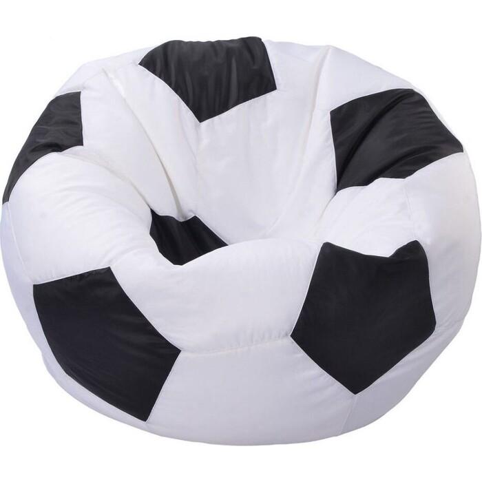 Кресло-мешок МВК Мяч оксфорд 100x85 бело-черное КМ675-МТ003
