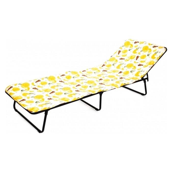 Кровать раскладная Ольса Стефания п/мягкая лист 10 мм каркас антрацит/ткань разноцветная С86А, С749 мягкая мебель раскладная
