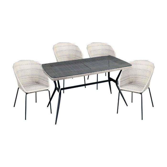 Набор мебели Garden story Эмилия 2 с подушками T-542/Y-517/2 искусственный ротанг/стекло