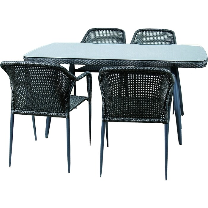 Набор мебели Garden story Ливорно 2 без подушек 521-1 искуственный ротанг/стекло
