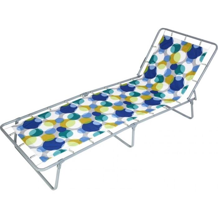 Кровать раскладная Ольса Стефания жесткая каркас антрацит/ткань разноцветная С85А