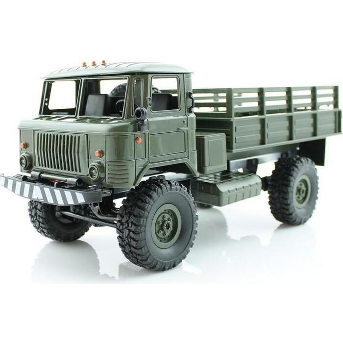 Конструктор внедорожник WPL 1/16 4WD электро - Offroad Truck PRO (зеленый корпус военный грузовик, 2.4 gHz, 10 км/ч)