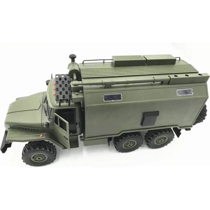 Конструктор внедорожник WPL 1/16 6WD электро - Советский военный грузовик Урал KIT
