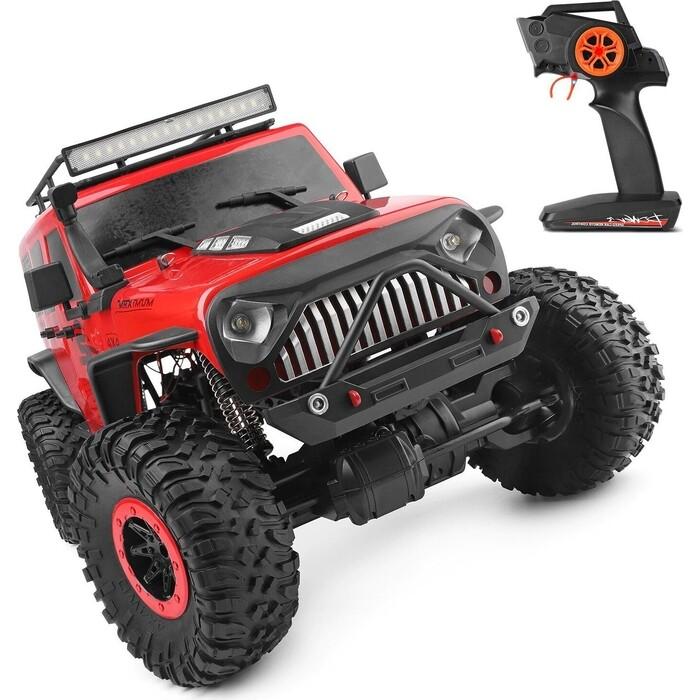 Радиоуправляемый краулер WL Toys 1/10 4WD Красный, электро - OFF ROAD JEEP (15 км/ч)