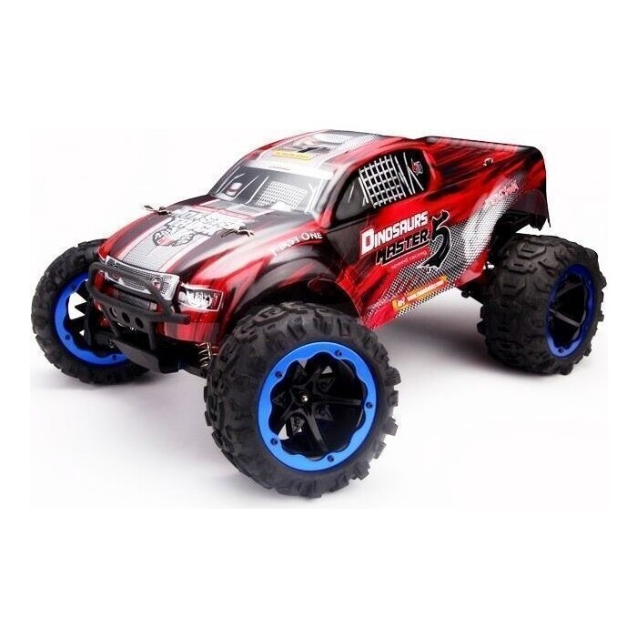 Радиоуправляемый монстр Remo Hobby Dinosaurs Master TWINS MOTOR (красный) 4WD 2.4G 1/8 RTR