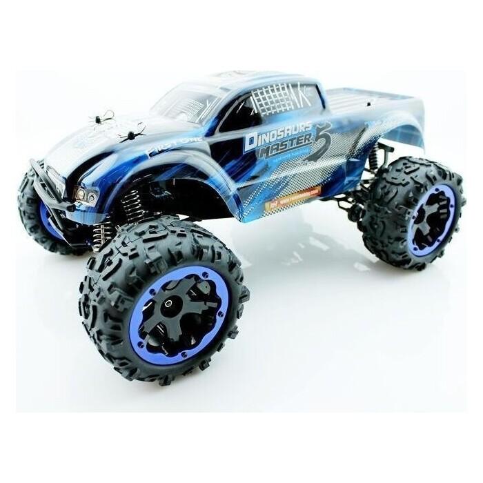 Радиоуправляемый монстр Remo Hobby Dinosaurs Master TWINS MOTOR (синий) 4WD 2.4G 1/8 RTR