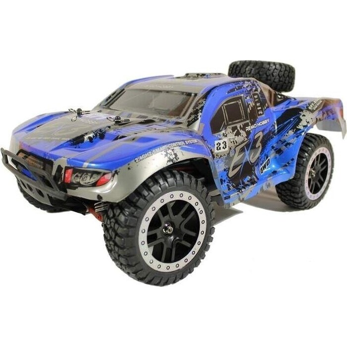 Радиоуправляемый шорт-корс Remo Hobby EX3 Brushless UPGRADE (синий) 4WD 2.4G 1/10 RTR