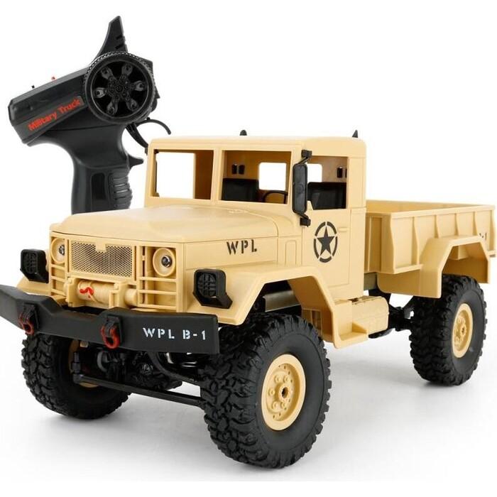 Конструктор внедорожник WPL 1/16 4WD электро - Military Truck RTR (PRO- версия, 2.4 гГц, 10 км/ч)