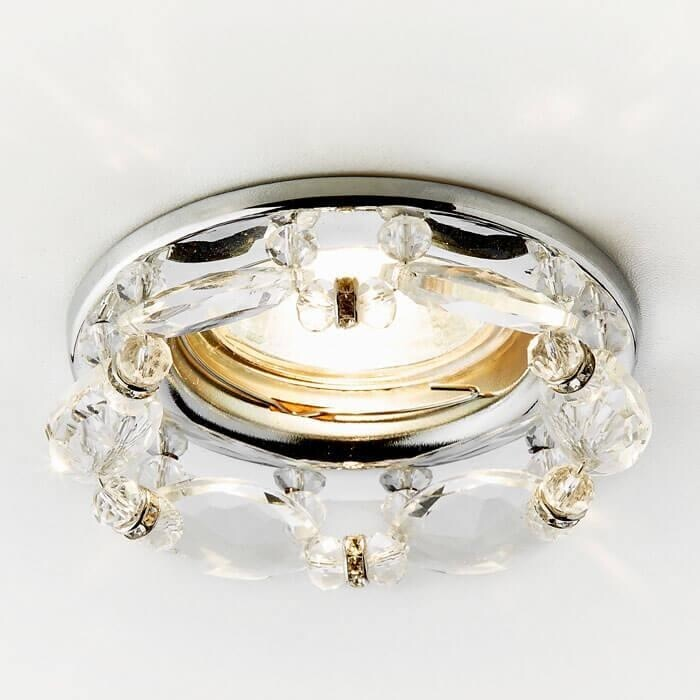Светильник Ambrella light Встраиваемый Crystal K212 CL/CH