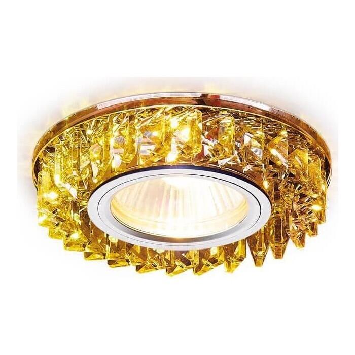 Светильник Ambrella light Встраиваемый Crystal S255 CH/YL