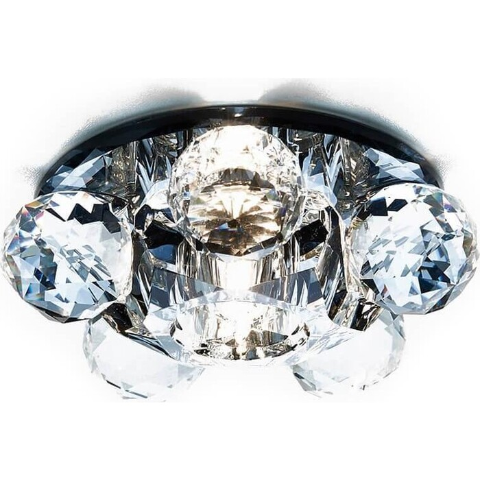 Светильник Ambrella light Встраиваемый Glass D1055 BK/CL