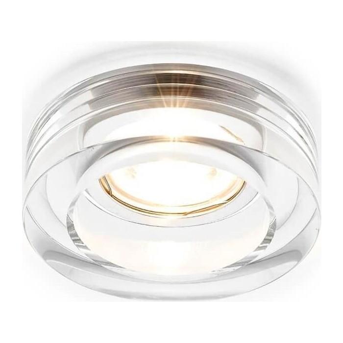Светильник Ambrella light Встраиваемый Glass D6110 CL светильник fametto dls l127 2001 luciole chrome glass