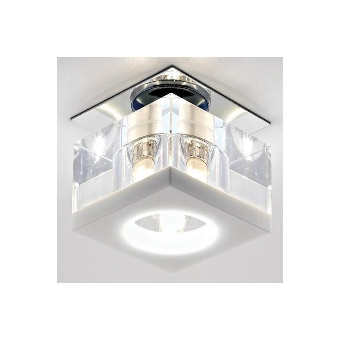 Светильник Ambrella light Встраиваемый Glass D8031 CL/W светильник fametto dls l127 2001 luciole chrome glass