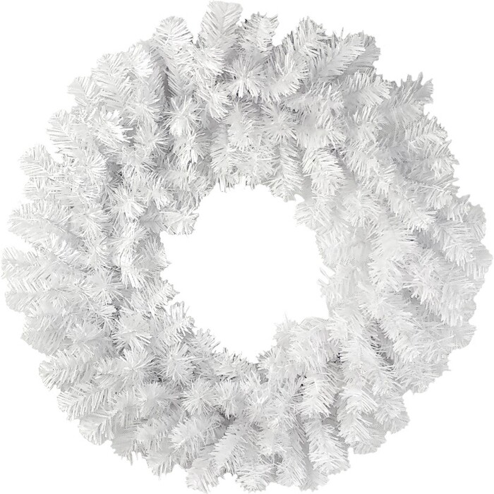 Венок новогодний MOROZCO - 6, белый, 50 см
