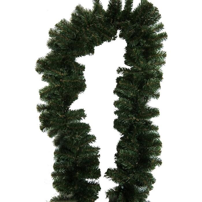 Гирлянда еловая MOROZCO Рождественская 13, ГР-13, темно-зеленая