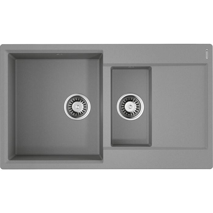 Мойка кухонная Omoikiri Daisen 86-2-GR leningrad grey (4993475)
