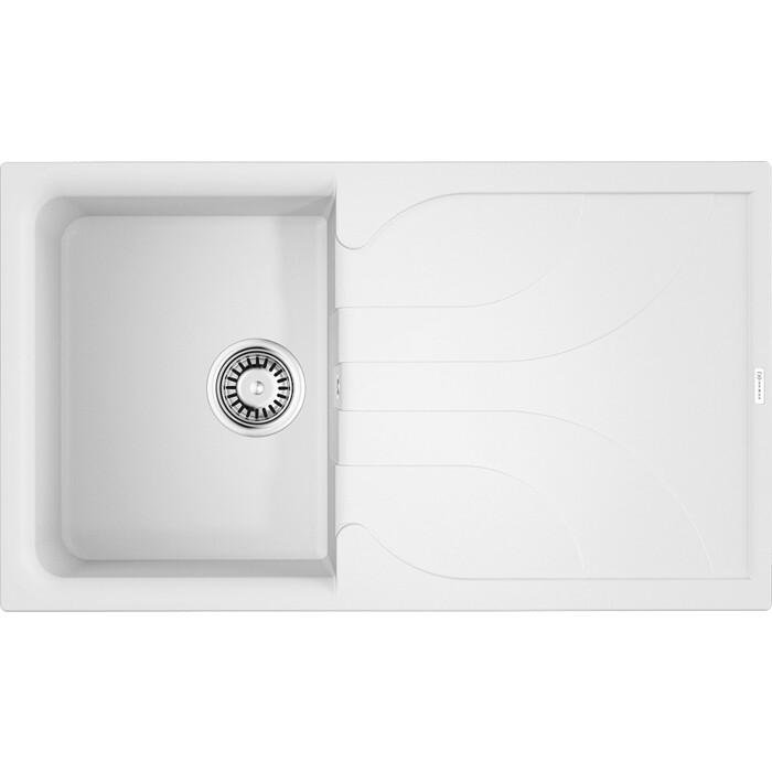 Мойка кухонная Omoikiri Yasugata 86-WH белый (4993871)
