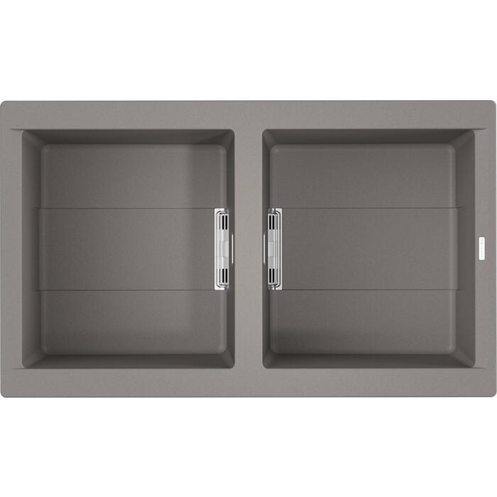 Мойка кухонная Omoikiri Banzen 86-2-GR leningrad grey (4993318)