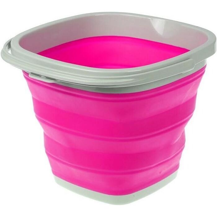Ведро складное Bradex TD 0556 квадратное 10л розовое