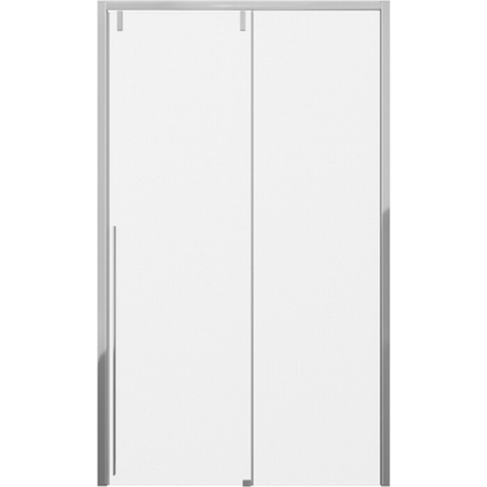 Душевая дверь Bravat Slimline 120х195 в нишу, прозрачные стекла, профиль хром (BD120.4105A)