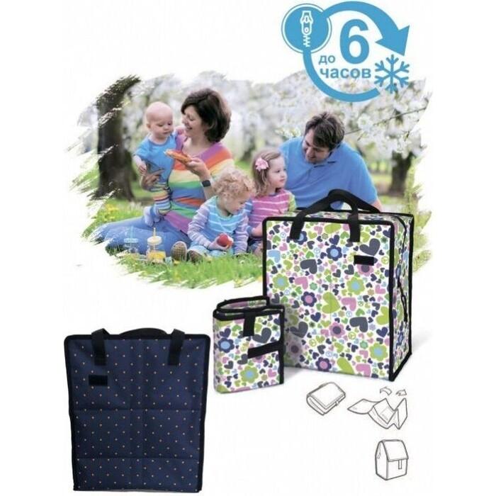Фото - Сумка охлаждающая Bradex ФРИЗИ ИЗИ с гелевым наполнением, синяя сумка охлаждающая bradex фризи изи с гелевым наполнением мультиколор