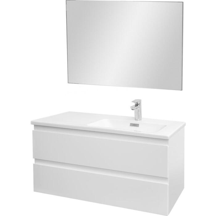 Мебель для ванной Jacob Delafon Madeleine 100 правая, блестящий белый