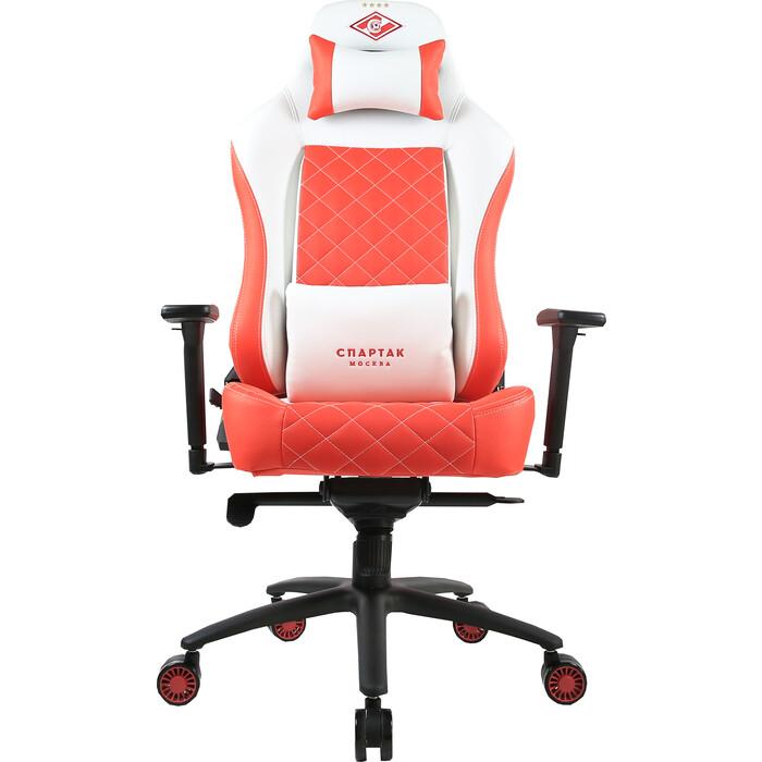 Кресло компьютерное игровое ZONE 51 Спартак легенда white-red
