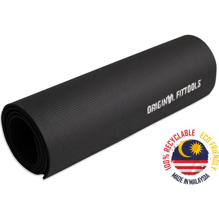 Коврик для йоги Original FitTools 1800x600 5,5 мм черный