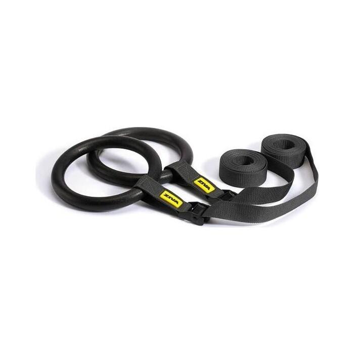 Кольца гимнастические ZIVA черные
